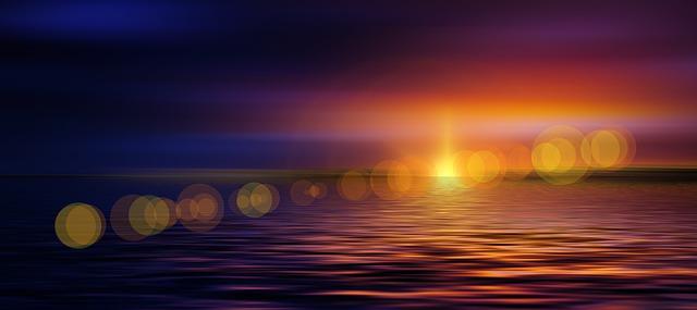 naplemente és NAP optikai visszaverődése