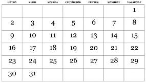 havi naptár