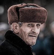 idős emberi arc