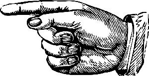 rajz egy mutató kézről