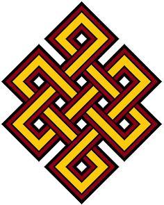 végtelen bélcsomó, a karma feloldásának tibeti jele