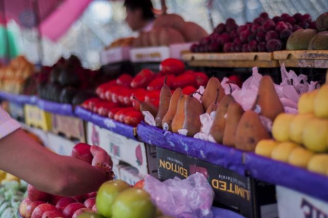 gyümülcsök egy piacon