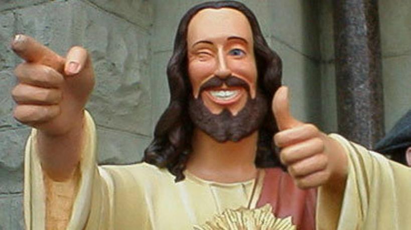 modern jézus szobor