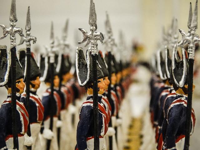 ólom katonák egy sorban